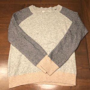 J. Crew Neutral Color Block Sweater